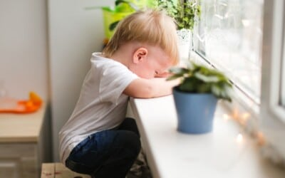 lonely-sad-toddler-toddler-looks-out-the-window-with-tears-a-child-in-kindergarten-without-a-mom-mom_t20_G02Gmo